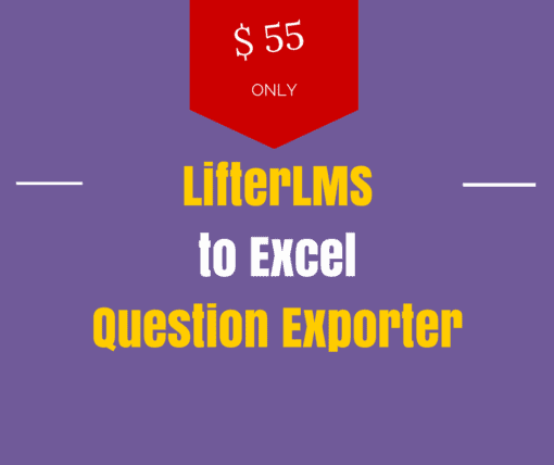 lifterlms to excel question export