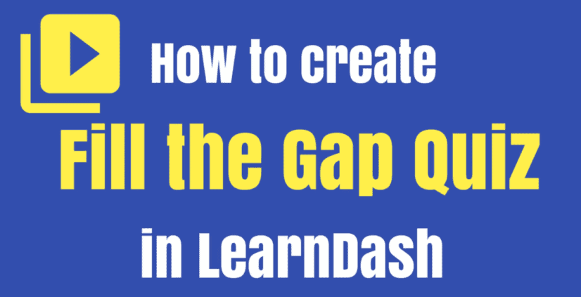 how to create fill gap quiz
