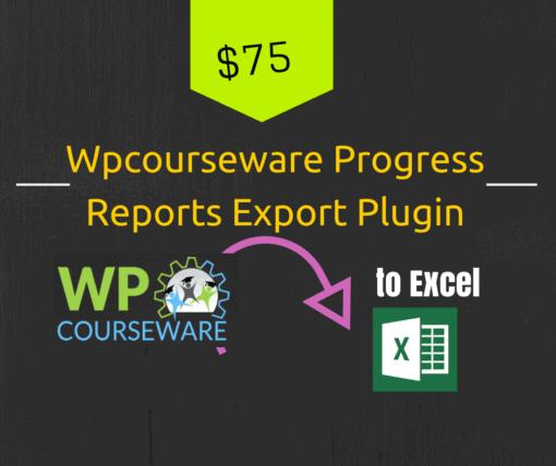 wpcourseware progress report