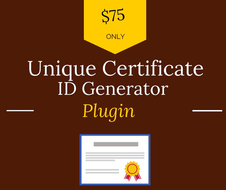 learndash unique certificate id