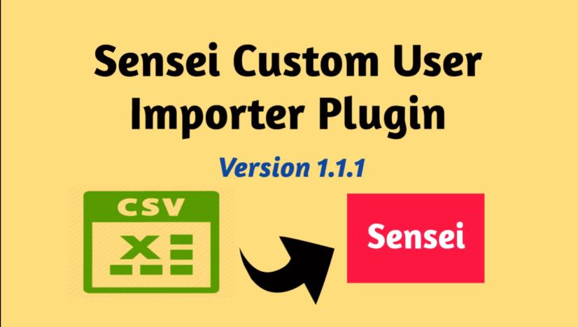 custom user import from csv to sensei