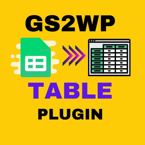 gs2wp table plugin