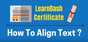 learndash certificate