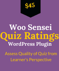 woo sensei quiz rating plugin