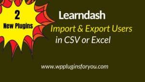 learndash user import export