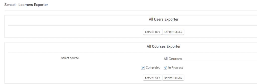 sensei user exporter