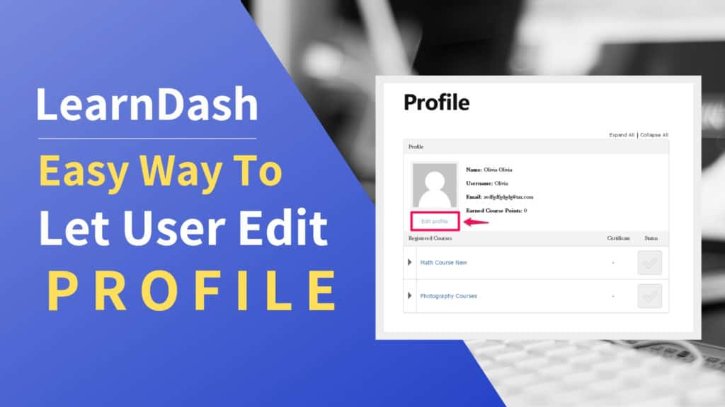 edit learndash user profile