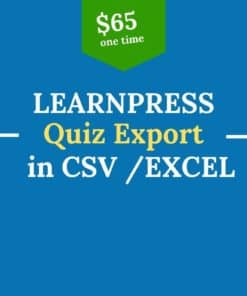 learnpress quiz export