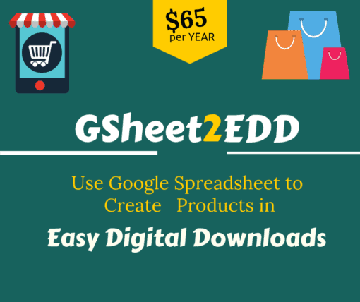 google sheet to edd