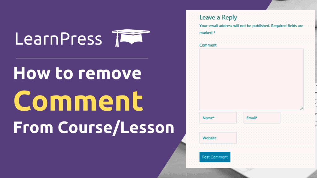 learnpress comment
