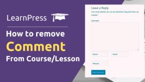 learnpress comment