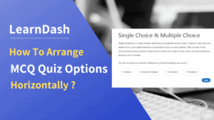 quiz options horizontally