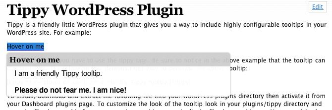 WordPress Plugin For ToolTip