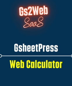 gsheetpress calculator