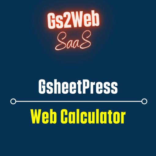 gsheetpress calculator
