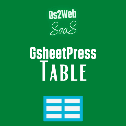 Gsheetpress table