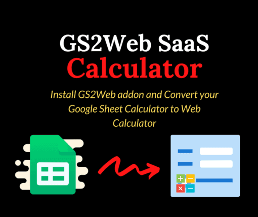 GS2Web SaaS Calculator