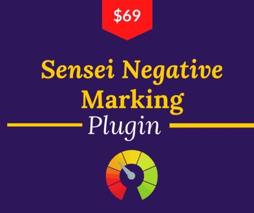 sensei negative marking plugin