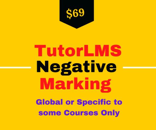 tutor lms negative marking